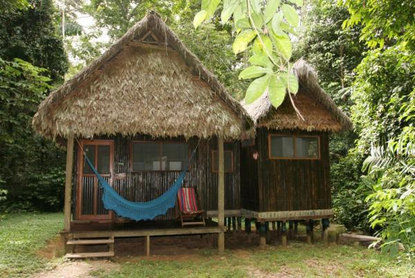 A cabana at Chalalan Ecolodge