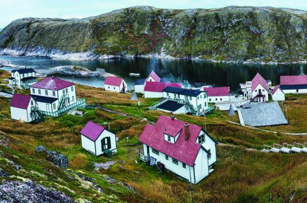A local village in the arctic.