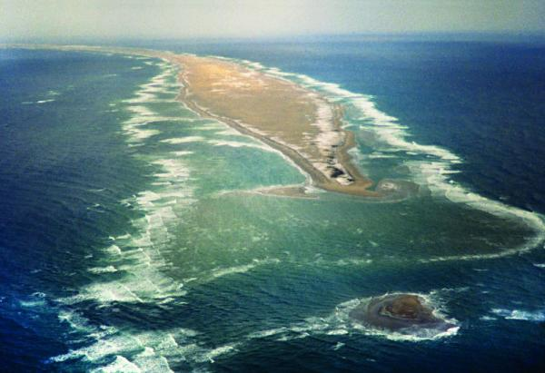 An aerial view of Sable Island.