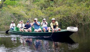 Enjoy a sightseeing trip in a canoe.