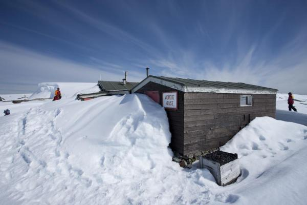 A Base camp on Antarctica.