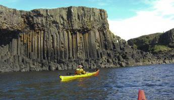 Kayaking in Scotland.