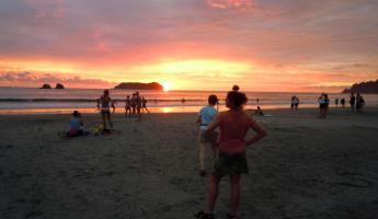 Sunset at Quepos, Costa Rica.
