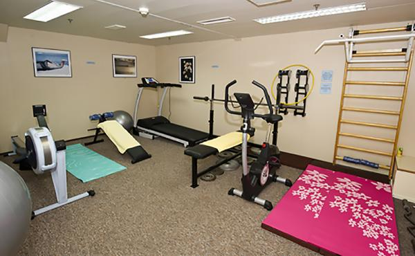 Stay fit on your trip by using the fitness center.