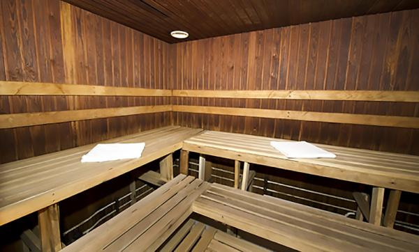 Relax in the luxurious sauna.