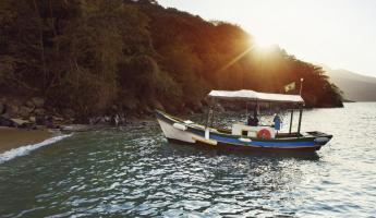 A local boat on the beaches of Paraty