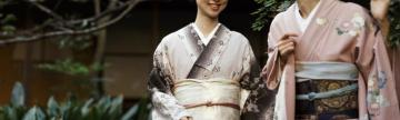 Local Japanese woman in traditional dress.