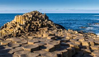 The unique rock formations of Giant's Causeway