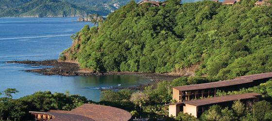 The coast around the Papagayo Resort.