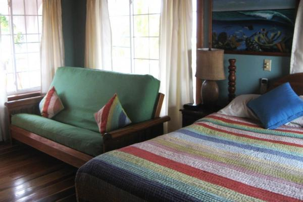 A comfortable double room at Blue Tang Inn