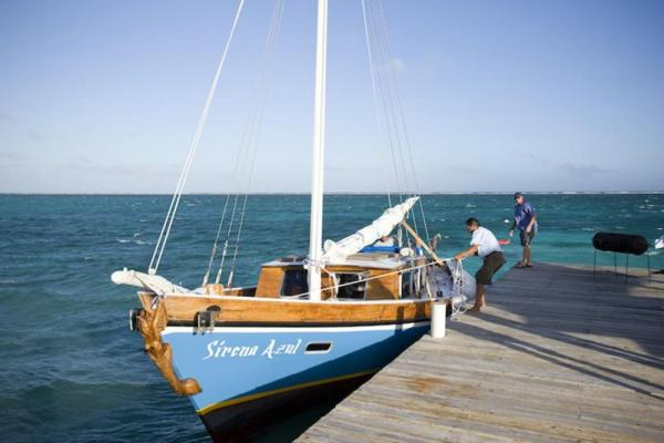 The Blue Tang Inn's sailboat is ready to cruise