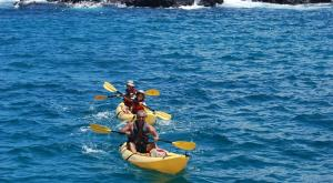 Kayaking in the Galapagos.