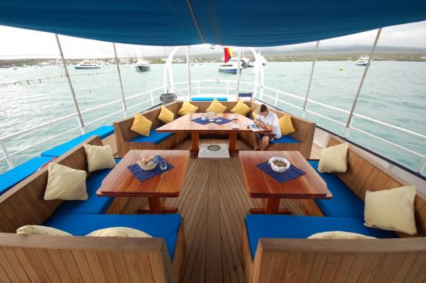 Relax on the deck of the Mary Anne.