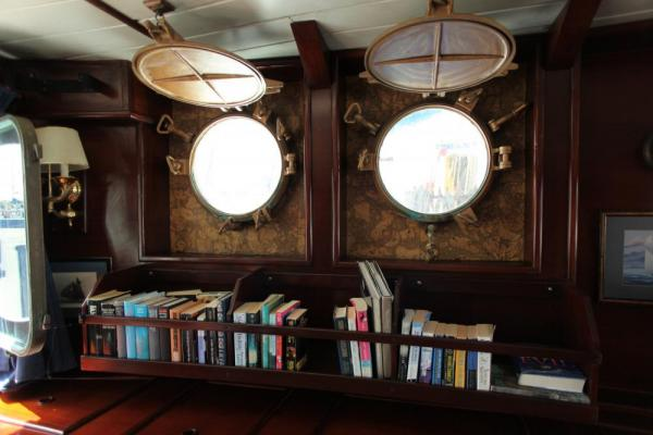 The library aboard the Mary Anne.