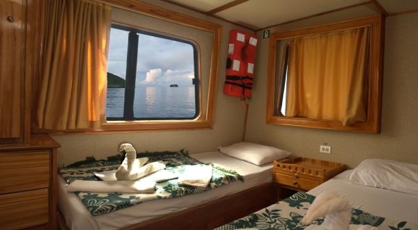 Fragata's spacious cabins.