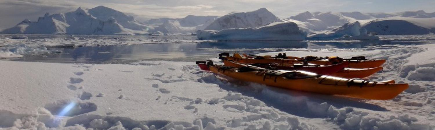 Kayaking in Antarctica.