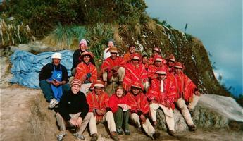 Our Inca Trail group and invaluable porters in Peru