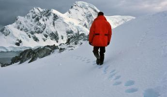 Walk acoss the pristine Antarctic landscape