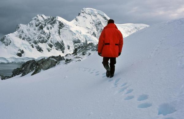 Walk across the pristine Antarctic landscape