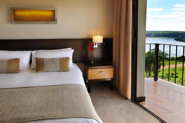 A luxurious double room with a balcony and stunning views.