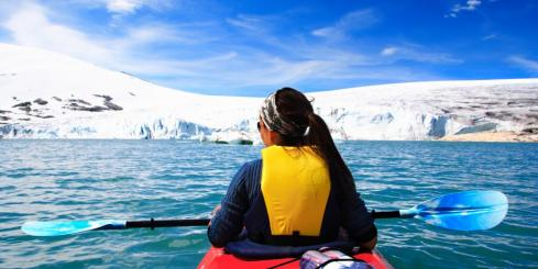 Kayak quiet waters as you sail to remote polar regions