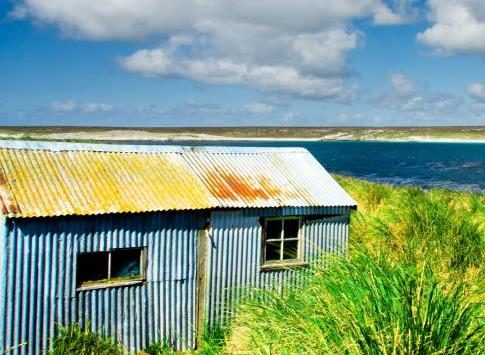 The pristine and remote landscape of the Falkland Islands