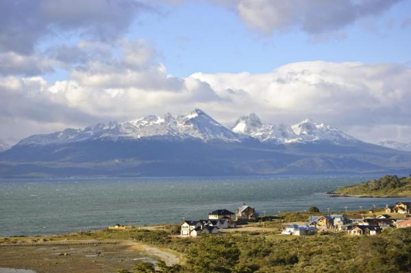 Looking across the Beagle Channel from Ushuaia