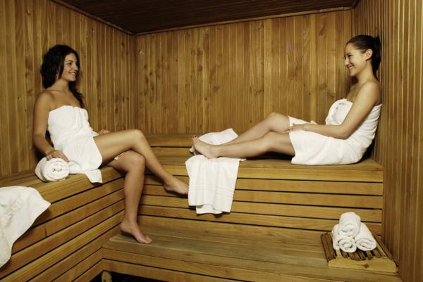 Relax in luxury in the sauna at the Albatros Hotel.