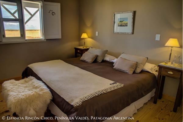 The spacious and comfy rooms at the Estancia Rincon Chico.