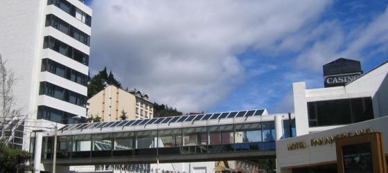 The exterior of the Panamericano Bariloche.
