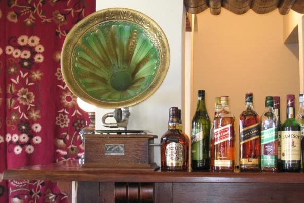Enjoy a drink from the bar at the Patios de Cafayate Hotel.