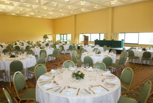 The conference room and large dining are of the Sheraton.