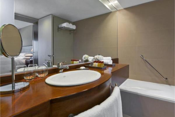 Enjoy the luxurious bathrooms of the Sheraton.