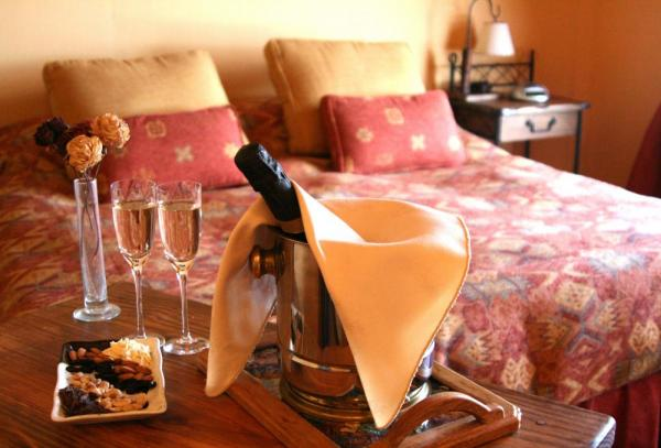enjoy a snack and champagne in your room.