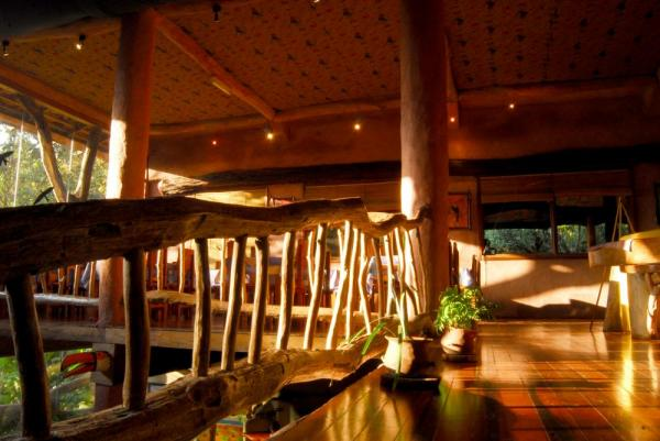 Enjoy the unique architecture of the Yacutinga Lodge.