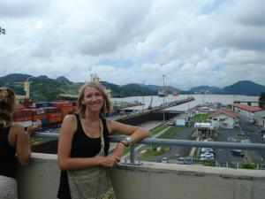 Marissa at Miraflores locks