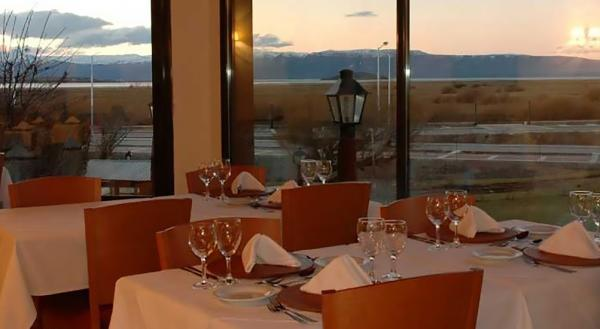 Enjoy the view while dining in the restaurant at the Sierra Nevada.