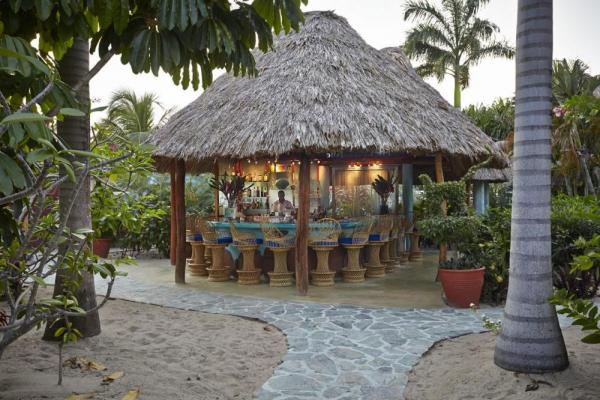 Enjoy refreshments at Chabil Mar's outdoor bar