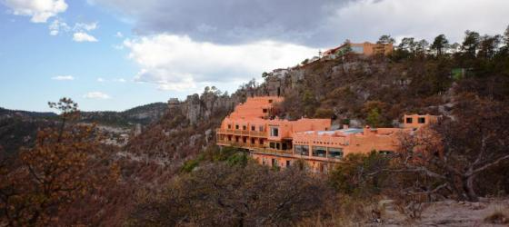 Hotel Mirador sits on the side of a hill allowing for an incredible view.