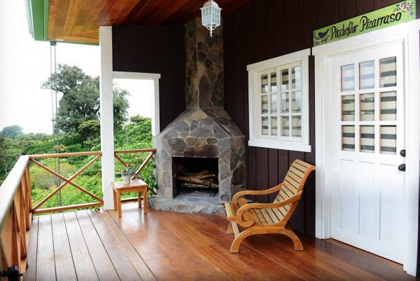 Relax in front of the fire on the patio and enjoy the view.
