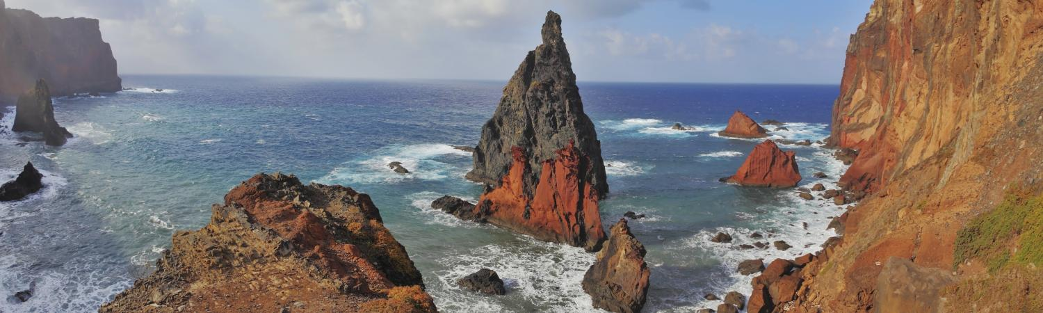 A view off the beautiful coast of Madeira.