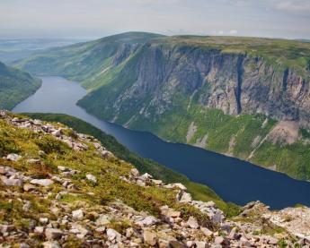 A view from the cliffs of Gros Morne National Park.