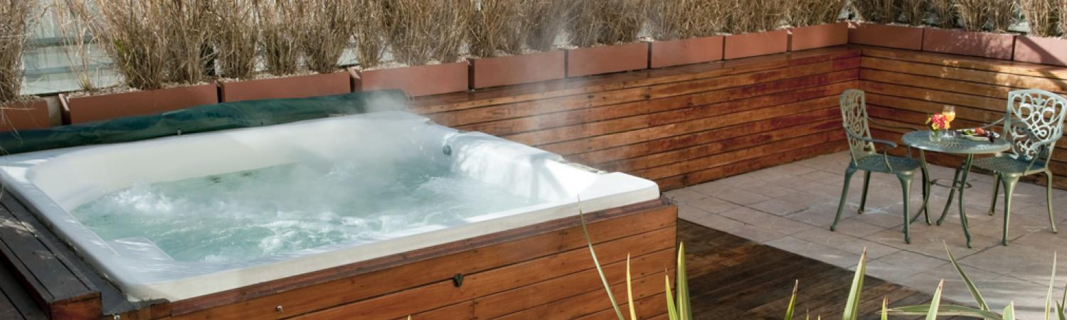 Relax in the rooftop jacuzzi and enjoy the view.