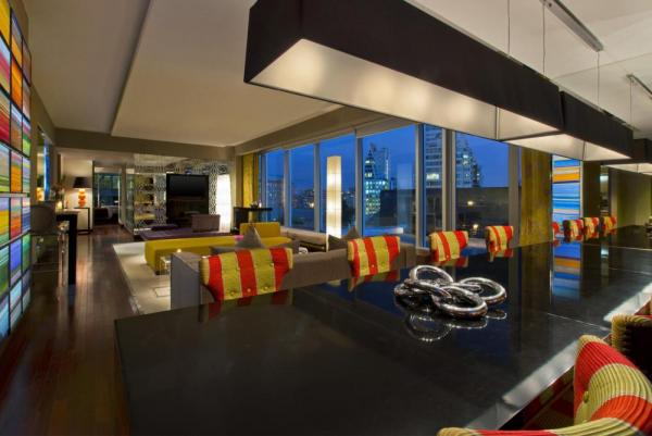 The Extreme WOW Suite's living room will dazzle and make this a stay to remember.