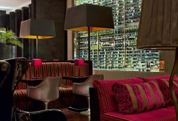 Indulge yourself in the comforts of luxury while enjoying a delicious cocktail in the W Lounge.