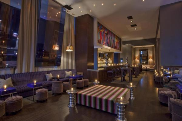 Have a delicious cocktail in the uniquely designed surroundings of the Whiskey Blue.