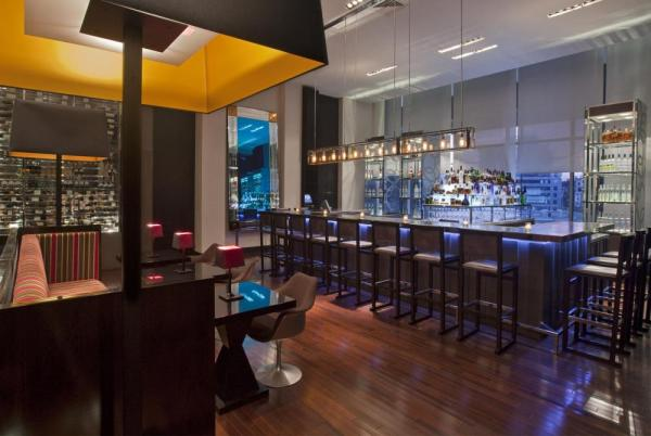 Enjoy a tasty and unique cocktail from the modernly designed bar at the W Lounge.