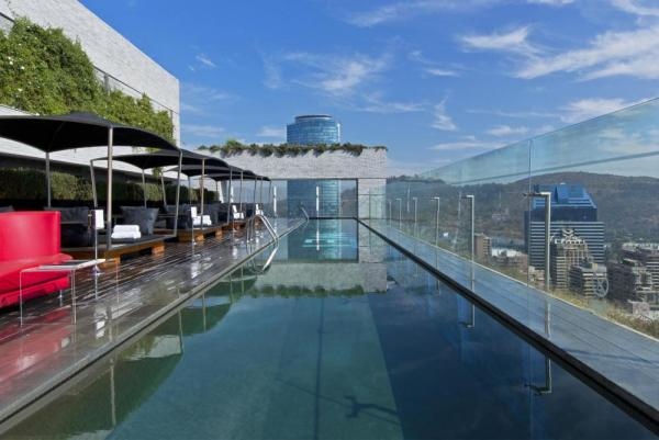 Enjoy the view from WET, the rooftop pool and bar.