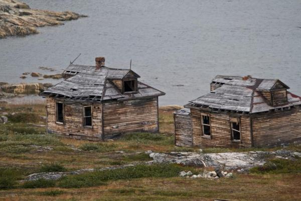 Abandoned buildings in the Arctic