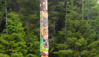 Totem poles are traditional for the native population of Alaska